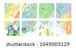 a set of creative universal... | Shutterstock .eps vector #1045003129