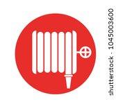 fire hose wall sign. vector...   Shutterstock .eps vector #1045003600