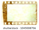 vintage sepia film strip frame... | Shutterstock . vector #1045008706