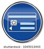 electronic chip and check card | Shutterstock . vector #1045013443