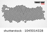 abstract turkey map of radial... | Shutterstock .eps vector #1045014328
