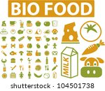 bio food icons set  vector | Shutterstock .eps vector #104501738