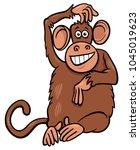 cartoon illustration of funny... | Shutterstock .eps vector #1045019623