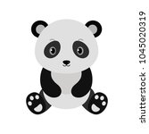 adorable panda in flat style. | Shutterstock .eps vector #1045020319