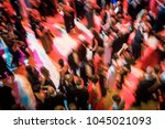 abstract image of a large group ... | Shutterstock . vector #1045021093