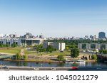 berlin with river spree and... | Shutterstock . vector #1045021279