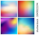 abstract vector multicolored... | Shutterstock .eps vector #1045022194