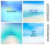 abstract vector beach blurred...   Shutterstock .eps vector #1045022224