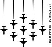 airplane flying formation  air...   Shutterstock .eps vector #1045026334