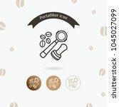 portafilter icon. coffee... | Shutterstock .eps vector #1045027099