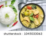 popular thai cuisine spicy... | Shutterstock . vector #1045033063