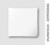 vector memo or remember note... | Shutterstock .eps vector #1045033666