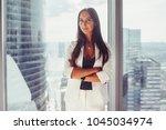 portrait of elegant business... | Shutterstock . vector #1045034974