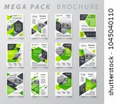mega pack design template flyer ... | Shutterstock .eps vector #1045040110