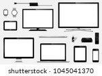 set of realistic smart tv ... | Shutterstock .eps vector #1045041370