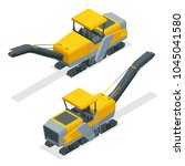 isometric pavement milling ... | Shutterstock .eps vector #1045041580