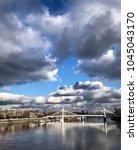 knightsbridge in london. | Shutterstock . vector #1045043170