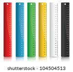 set of colorful rulers | Shutterstock .eps vector #104504513