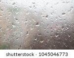 rain drops on the glass. spring ...   Shutterstock . vector #1045046773