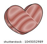 chocolate heart icon   Shutterstock .eps vector #1045052989