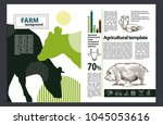 agricultural brochure layout... | Shutterstock .eps vector #1045053616