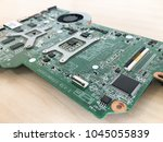 notebook motherboard closeup | Shutterstock . vector #1045055839