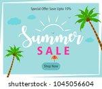 summer season banner or flyer... | Shutterstock .eps vector #1045056604
