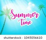 summer season banner or flyer... | Shutterstock .eps vector #1045056610