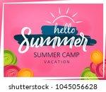 summer season banner or flyer... | Shutterstock .eps vector #1045056628