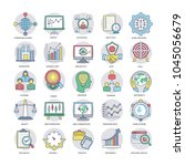 business flat icons set   | Shutterstock .eps vector #1045056679