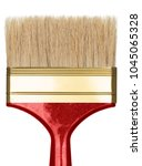 red paint brush on white...   Shutterstock . vector #1045065328