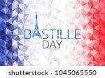 bastille day logo icon design ... | Shutterstock .eps vector #1045065550