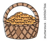 basket with breads icon | Shutterstock .eps vector #1045067566