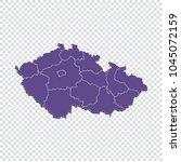 czech republic map   high... | Shutterstock .eps vector #1045072159