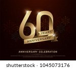 60th years anniversary... | Shutterstock .eps vector #1045073176