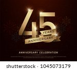 45th years anniversary... | Shutterstock .eps vector #1045073179