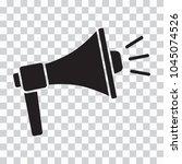 megaphone icon. black... | Shutterstock .eps vector #1045074526