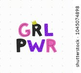 girl power poster. woman... | Shutterstock .eps vector #1045074898