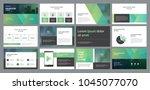 business presentation template... | Shutterstock .eps vector #1045077070