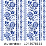 scandinavian seamless vector... | Shutterstock .eps vector #1045078888