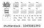 bullet journal universal...   Shutterstock .eps vector #1045081393