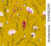 beautiful hand drawing outline... | Shutterstock .eps vector #1045082209
