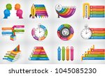 big collection infographics.... | Shutterstock .eps vector #1045085230