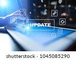 update on virtual screen.... | Shutterstock . vector #1045085290