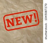 new stamp sign cardboard... | Shutterstock .eps vector #1045087270