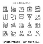 health  bold line icons. the... | Shutterstock .eps vector #1045095268