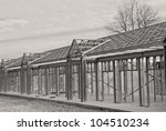 Steel Framing of a Commercial Building - stock photo