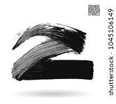 grey brush stroke and texture.... | Shutterstock .eps vector #1045106149