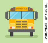 illustration of yellow school... | Shutterstock . vector #1045107403