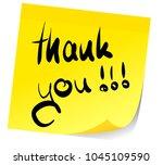 words thank you written on... | Shutterstock .eps vector #1045109590